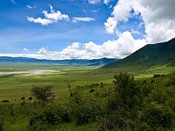 Cráter del Ngorongoro (Tanzania). Crédito: Wikipedia Commons