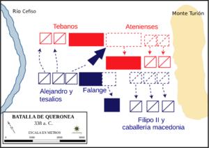 Batalla de Queronéa Crédito: Wikipedia Commons