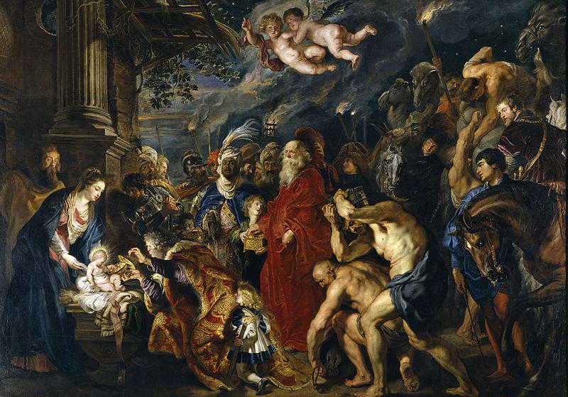 La Adoración de los Reyes Magos, Rubens.
