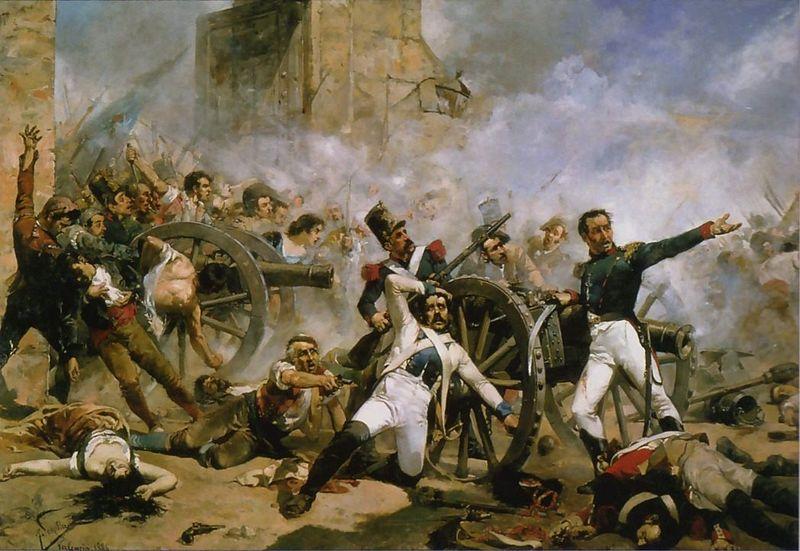 Defensa de Monteleón el 2 de mayo Crédito: Wikipedia Commons