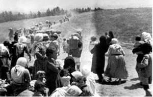 Imagen 3: Refugiados palestinos en 1949 (Fuente: nodo50)