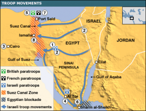 Imagen 4: mapa bélico sobre la segunda guerra árabe-israelí (Fuente: guerrafria5389.wordpress.com)