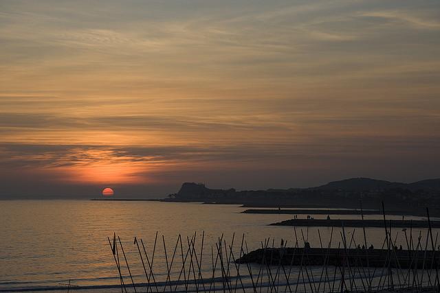 Puesta de sol en Sitges. Crédito Humbert Torroella