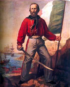 Garibaldi con su camisa roja Crédito: Wikimedia Commosn