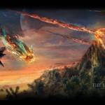 Meteorito cayendo Crédito: webefecto.com