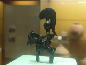 Guerrero de Moixent expuesto en el Museo de Prehistoria de Valencia