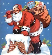 Papá Noel en la chimenea
