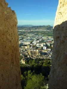 Vista desde el Castillo con la Colegiata en el centro