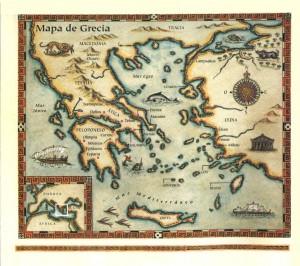 Mapa del Egeo