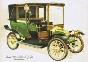 Imagen del Renault 1910 AG, modelo de los taxis utilizado para llevar a los soldados al frente.