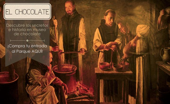 Museo del chocolate en el Monasterio de Piedra de Zaragoza. Foto: monasteriodepiedra.com