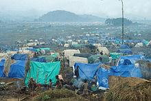 Campamento de refugiados en Zaire