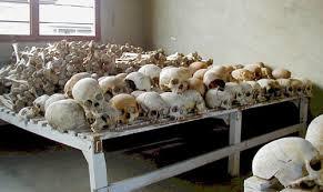 Cráneos de las víctimas del genocidio