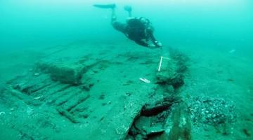 Una sección de los restos del naufragio.