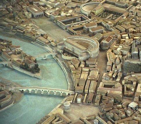 Maqueta de la ciudad de Roma.