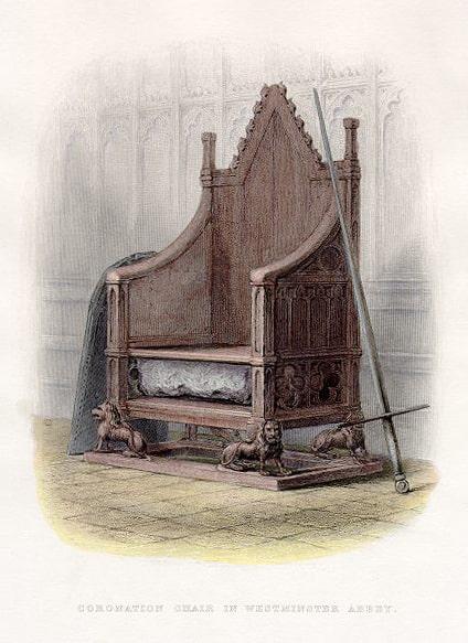 Piedra del destino en la silla de la coronación