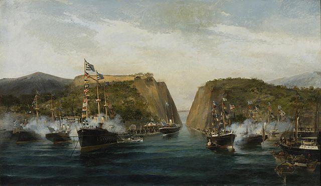 Canal de Corinto similar al canal de Suez
