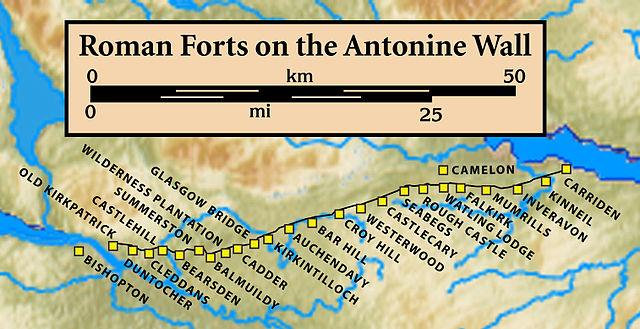 Fuertes romanos del Muro de Antonino