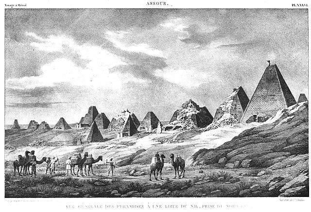 Pirámides perdidas de Nubia en 1821