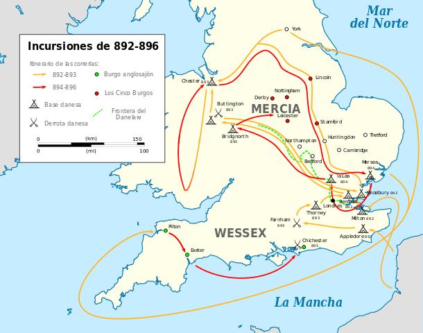 Incursiones vikingas en Inglaterra