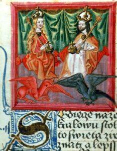 Emperedaor Carlos IV y su esposa Blanca de Volois