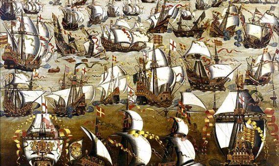 La batalla entre la Armada española y la flota inglesa